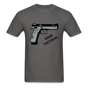 KB32 Tactical with smiley face and team member sleave  - Men's T-Shirt
