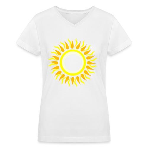 Sun T-Shirt - Women's V-Neck T-Shirt