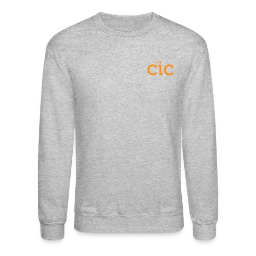 Unisex Crewneck Sweatshirt, Grey/CIC Orange - Crewneck Sweatshirt