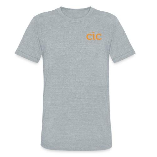 Unisex Tri-Blend T-Shirt, Grey/CIC Orange - Unisex Tri-Blend T-Shirt