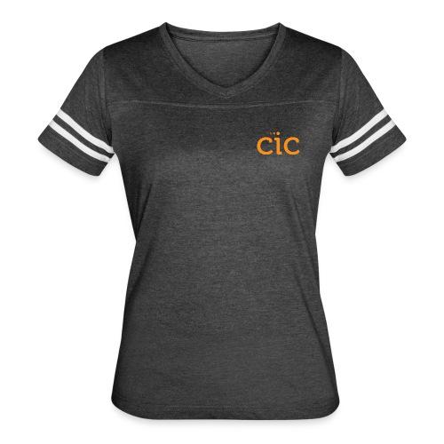 Women's Vintage Sport T-Shirt, Grey/CIC Orange - Women's Vintage Sport T-Shirt