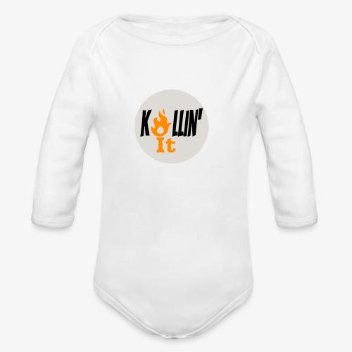 Killin' It Long Sleeve Baby Bodysuit White - Organic Long Sleeve Baby Bodysuit