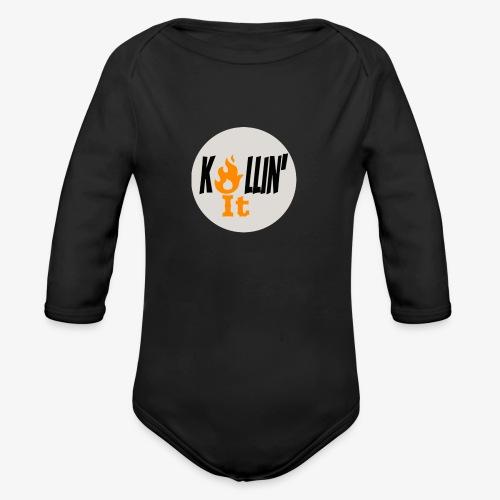 Killin' It Long Sleeve Baby Bodysuit Black - Organic Long Sleeve Baby Bodysuit
