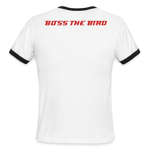Men's Ringer T-Shirt - Show your support for the working class and give your BOSS THE BIRD!!!!!