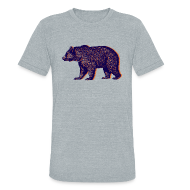T-Shirts ~ Unisex Tri-Blend T-Shirt by American Apparel ~ CHICAGO BEAR