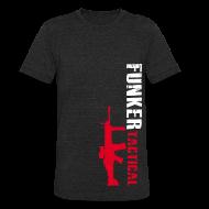 T-Shirts ~ Unisex Tri-Blend T-Shirt ~ AA Funker Tactical & SCAR Left Side