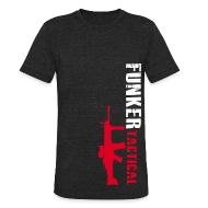 T-Shirts ~ Unisex Tri-Blend T-Shirt ~ AA Funker Tactical & SCAR Left Side