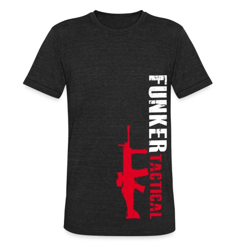 AA Funker Tactical & SCAR Left Side - Unisex Tri-Blend T-Shirt by American Apparel