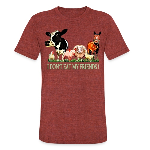 Loving Animals - Unisex Tri-Blend T-Shirt