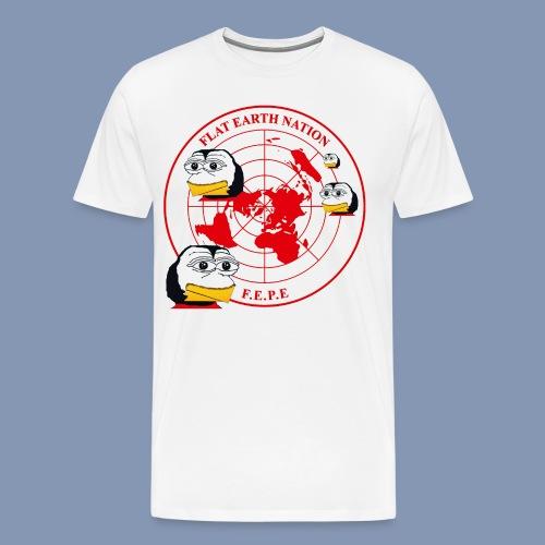 FEPEs Flat Earth Nation Penguins - Men's Premium T-Shirt