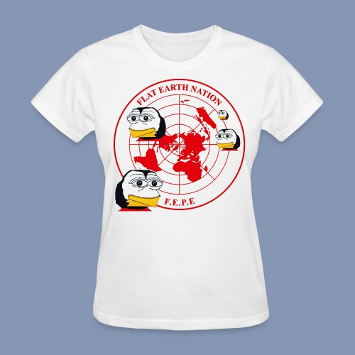FEPEs Flat Earth Nation Penguins - Women's T-Shirt