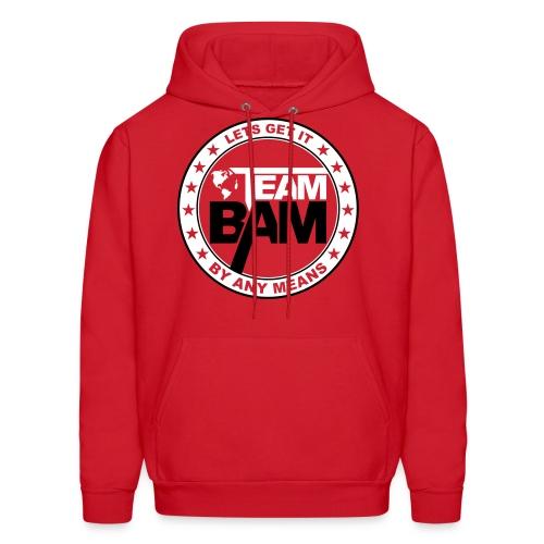 Team BAM Men's Hoodie (RED) - Men's Hoodie