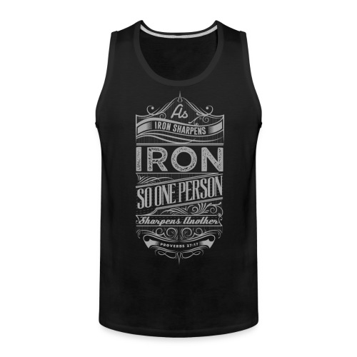 Iron Sharpens Iron Tank - Men's Premium Tank