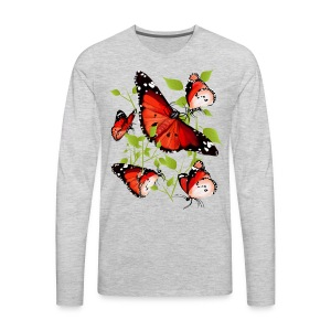 BRIGHT ORANGE BUTTERFLY - Men's Premium Long Sleeve T-Shirt