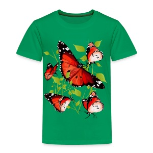 BRIGHT ORANGE BUTTERFLY - Toddler Premium T-Shirt