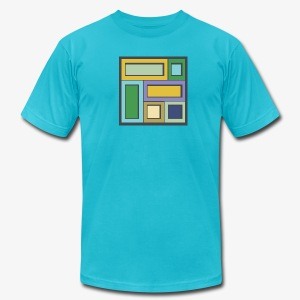 Squares & Rectangles - Men's American Apparel - Men's T-Shirt by American Apparel