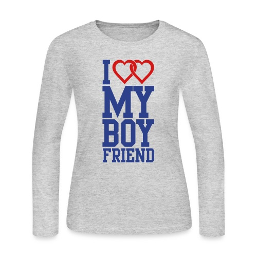 I Love My Boyfriend Wepeeler - Women's Long Sleeve Jersey T-Shirt
