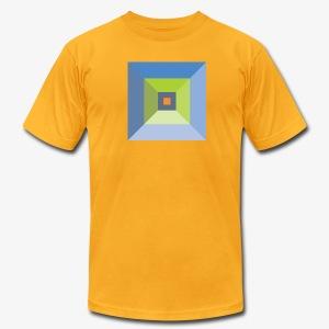 Bird's Eye Pyramid - Men's American Apparel - Men's Fine Jersey T-Shirt