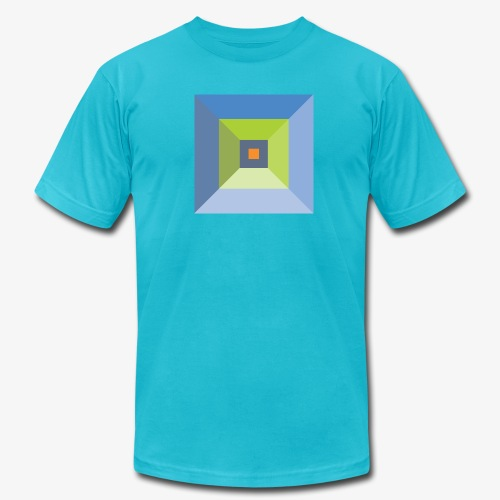 Bird's Eye Pyramid - Men's American Apparel - Men's  Jersey T-Shirt