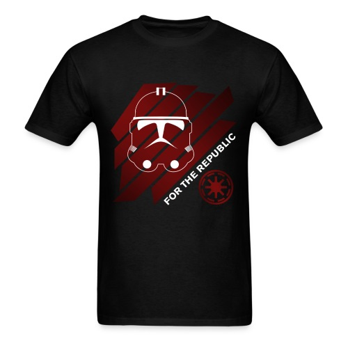 For The Republic (WHITE LOGO) - Men's T-Shirt