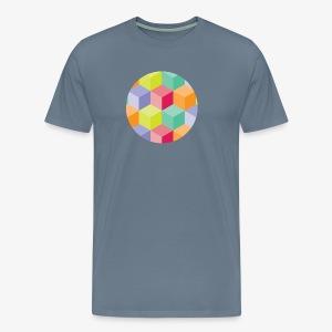 Cubed Circle - Men's Premium - Men's Premium T-Shirt