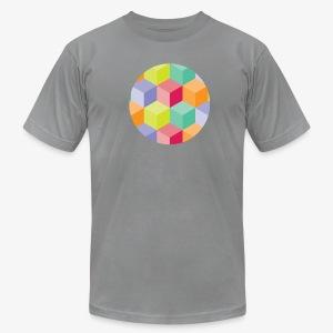 Cubed Circle - Men's American Apparel - Men's Fine Jersey T-Shirt