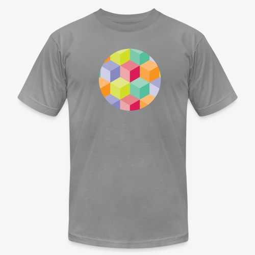 Cubed Circle - Men's American Apparel - Men's  Jersey T-Shirt