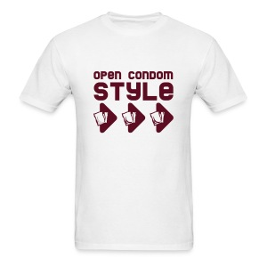 Style Parody(Open Condom Style) - Men's T-Shirt