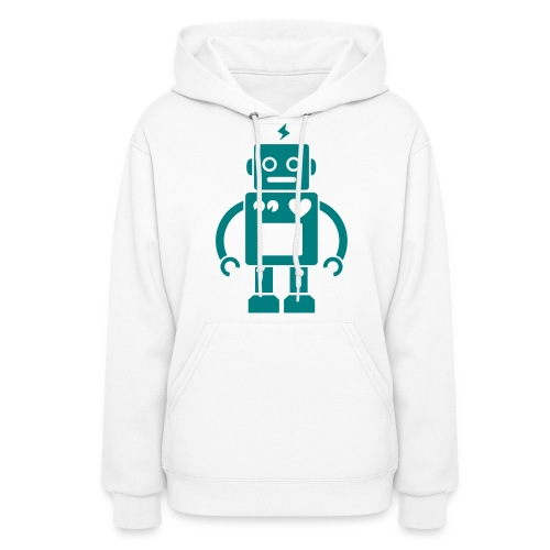 Robots Can Love Too Womens Hoodie - Women's Hoodie