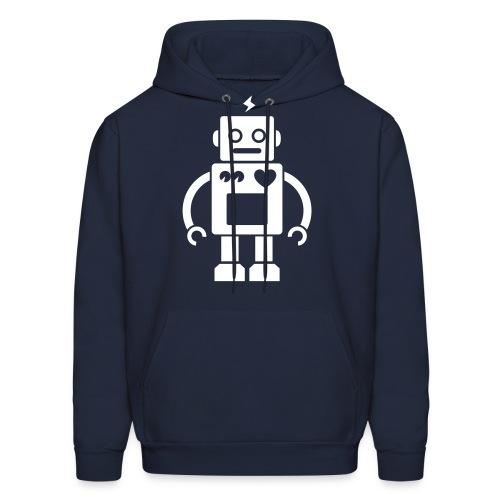 Robots Can Love Too Mens Hoodie - Men's Hoodie