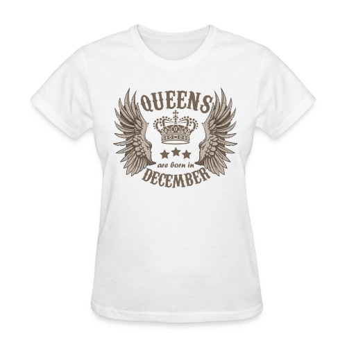 Queens are born in December - Women's T-Shirt