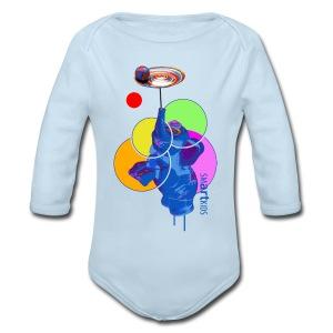 SMARTKIDS - MUMBO JUMBO - front print - 6/18 months - multi colors - Long Sleeve Baby Bodysuit