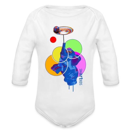 SMARTKIDS - MUMBO JUMBO - front print - 6/18 months - multi colors - Organic Long Sleeve Baby Bodysuit