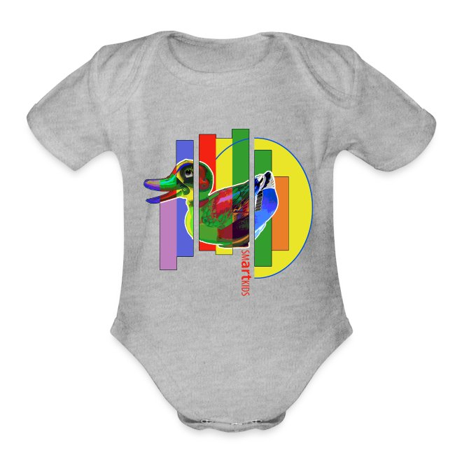 SMARTKIDS - GUTSY DUCK - front print - 0/12 months - multi colors