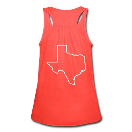 Texas State Tank w/ Texas Outline on back - Women's Flowy Tank Top by Bella