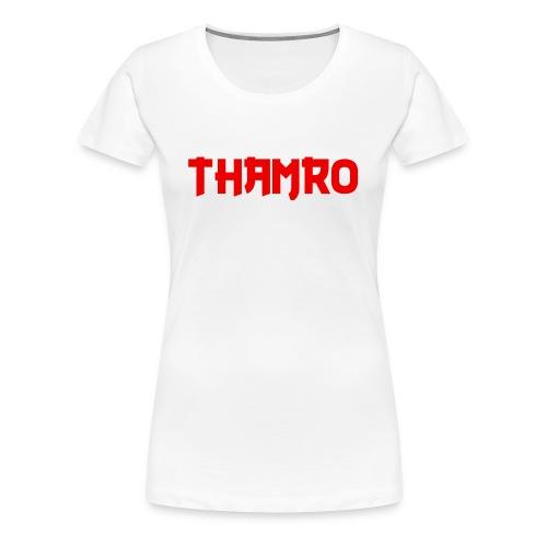 White Thamro Ladies Cut - Women's Premium T-Shirt