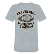 T-Shirts ~ Unisex Tri-Blend T-Shirt by American Apparel ~ CLEVELAND MUNICIPAL STADIUM