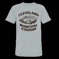 T-Shirts ~ Unisex Tri-Blend T-Shirt ~ CLEVELAND MUNICIPAL STADIUM