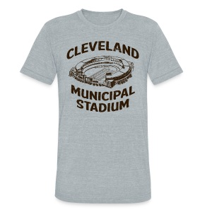 CLEVELAND MUNICIPAL STADIUM - Unisex Tri-Blend T-Shirt by American Apparel