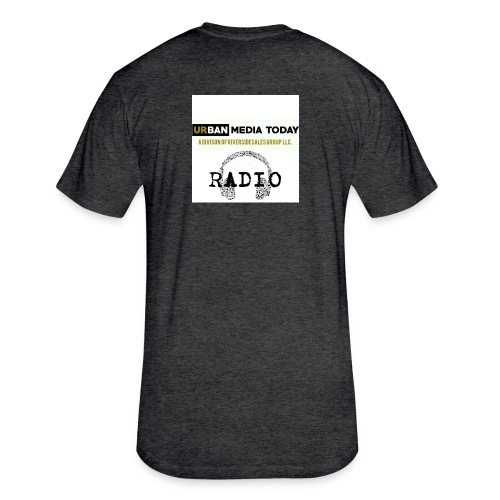 UMT Radio GRAY - Fitted Cotton/Poly T-Shirt by Next Level