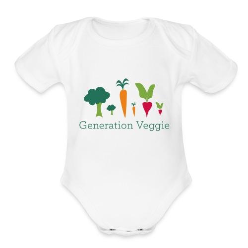 Logo Baby Bodysuit - Organic Short Sleeve Baby Bodysuit