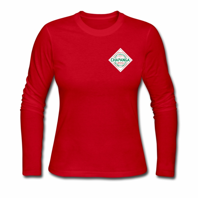 Chapanga Ladies' Long Sleeve T-shirt (lapel front)