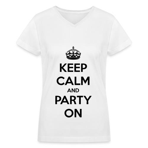 Womans Tee-Shirt - Women's V-Neck T-Shirt