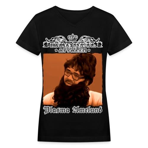 Mandril Plasma Amelund - Women's V-Neck T-Shirt