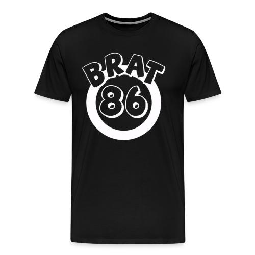 Brat 86 Front Logo  - Men's Premium T-Shirt
