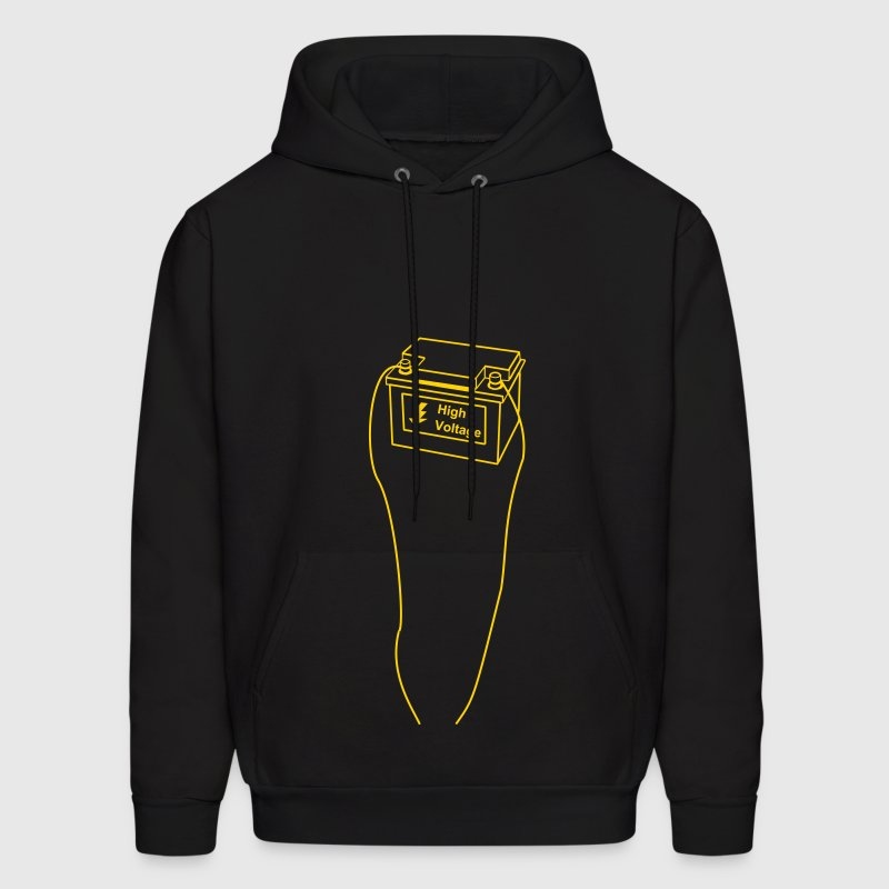 battery, high voltage, low current, high voltage, power, electricity, penis, cock, Member Hoodies - Men's Hoodie