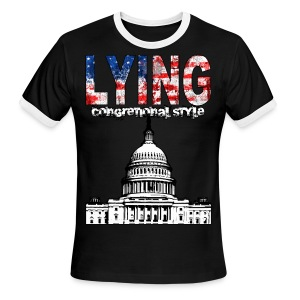 Lying Congressional Style - Men's Ringer T-Shirt