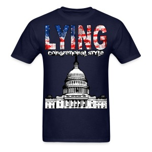 Lying Congressional Style - Men's T-Shirt