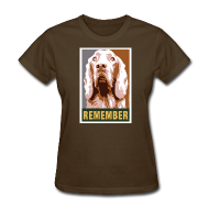 Women's T-Shirts ~ Women's T-Shirt ~ Dogs Against Romney Limited Edition REMEMBER by DEVO's Gerald Casale