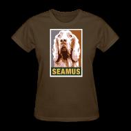 Women's T-Shirts ~ Women's T-Shirt ~ Dogs Against Romney Limited Edition SEAMUS by DEVO's Gerald Casale